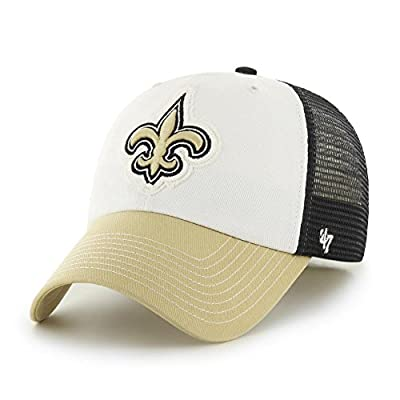 New Orleans Saints 47 Brand Privateer Closer Mesh Flex Fit Hat