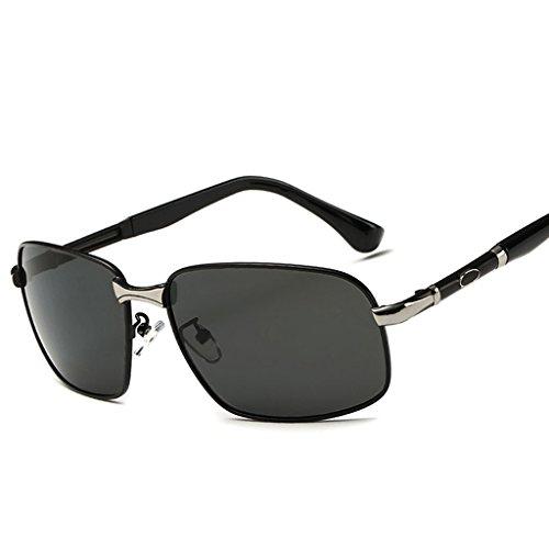 de antideslumbrante Hombres Conductor Sol Hombres Espejo polarizadas Gafas para de Caja los la Sol de de de Gafas Sol Espejo Cuadrada de Impacto Lente Conducción Rana de Gafas B UV B Color xfwOv1qn