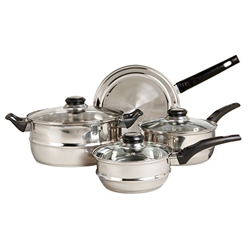 Sunbeam Ridgeline 7-Piece Stainless Steel Cookware Set
