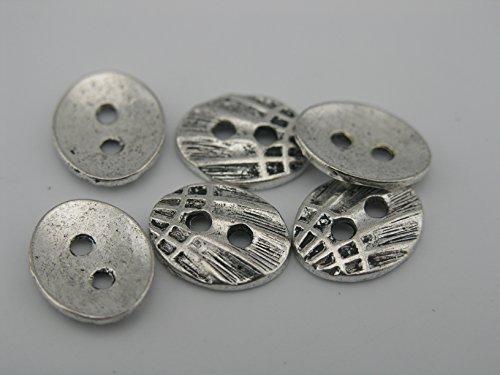3 Colors-50pcs Buttons for Wrap Leather Bracelet fits 1.5mm (Antique Silver) (Three Button Wrap)