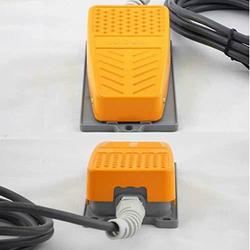 Commutateur de pied avec 2M C/âble Mioke Interrupteur /à p/édale Industriel M/étal 250V 15A