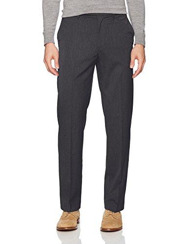- Savane Men's Flat Front Active Flex Diamond Dress Pant, Black, 32W x 30L