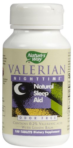 Natures Way Valerian Nighttime Natural Sleep Aid Tablets - 100 Ea, 6 (100 Ea Natures Way)
