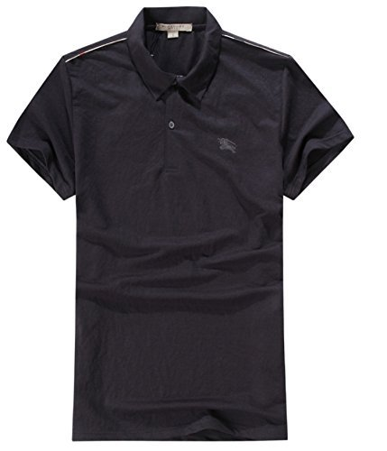 Burberry Brit Mens Check Placket Polo Shirt Xx Large Dark Navy