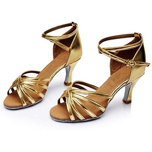 Dance Tinta Jiangfu Alto Tacco scarpe Oro Donna Ballo Sandali Shoes Latin Da Unita wrvqIr