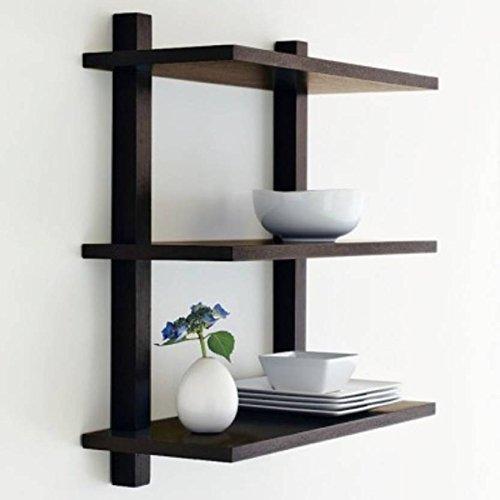 Artesia Wooden Wall Decor And Rack Shelves 3 Tier