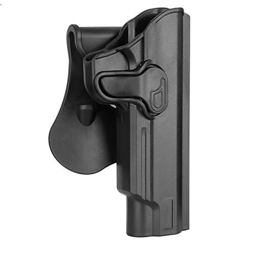 5' Barrel 1911 Paddle Holster: Fit Colt 1911,Kimber 1911,SW1911,Taurus 1911,Remington 1911 R1,Sig 1911,Ruger SR1911,GSG 1911-For Non Rail -OWB -Right Handed