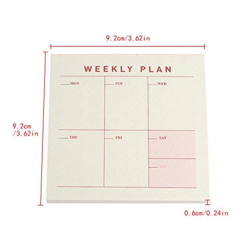 Ladaidra Writing Note Pads Weekly Plan Page 60 Sheets, 3.62