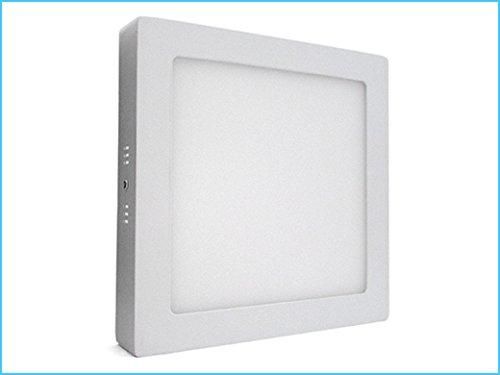 Plafoniere Quadrate Da Parete : Plafoniera faretto led da soffitto muro parete quadrata w bianco