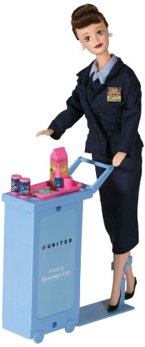 Daron United Airlines Flight Attendant Doll Airlines Flight Attendant Doll