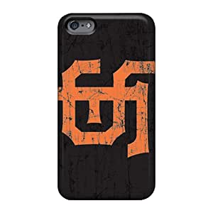 Shock Absorbent Hard Phone Covers For Apple Iphone 6 Plus (Wax7611zwSV) Allow Personal Design Lifelike San Francisco Giants Series