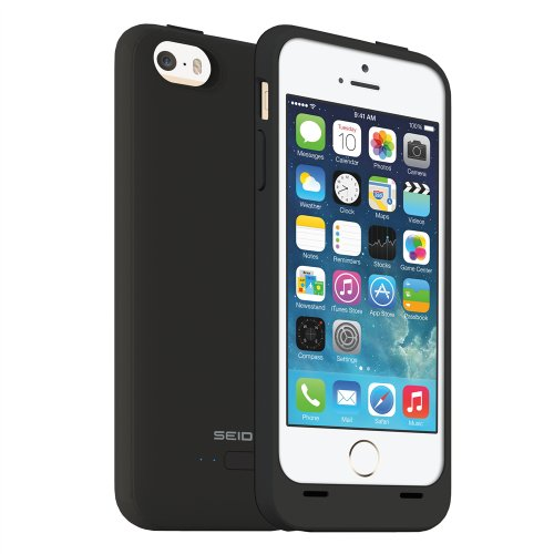 Seidio Innocell Power Case for iPhone 5/5s, Retail Packaging, Black