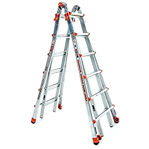 26 FT Aluminum Ladder Multi Position LT Type IA Dual Pin Hinge And Wide-flared Legs - Skroutz Deals
