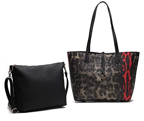 - Women's Hobo Set MK CUTE Fashion Designer Organizer LV Handbags Luxury Travel Crossbody Shoulder Satchel Tote Purse lepord Top Handle Ladies Extra Large Capacity Pockets 2pc Set PU Leather by MKCUTE