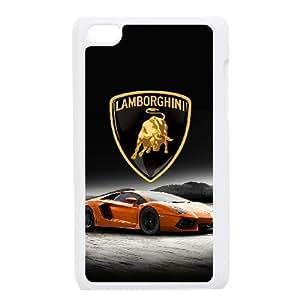 Lamborghini iPod Touch 4 Case White&Phone Accessory STC_199569