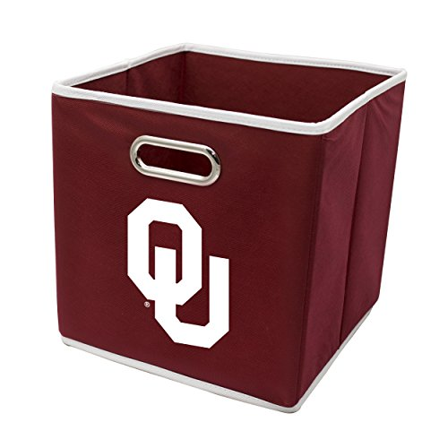 Franklin Sports Oklahoma Sooners Collapsible Storage Bin - Made to Fit Storage Bin Shelf Organizers - 10.5