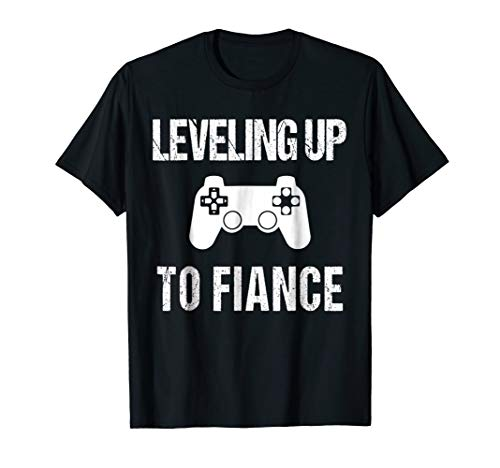Leveling Up To Fiance Tshirt | New