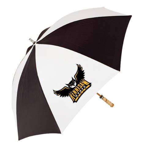 Kennesaw 62 Inch Black/White Umbrella 'Official Kennesaw State Owls Logo' by CollegeFanGear