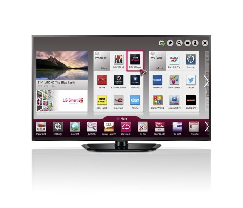 LG 50PH660V 50-inch Widescreen 1080p Full HD 3D Smart Plasma TV with Freeview HD/600Hz