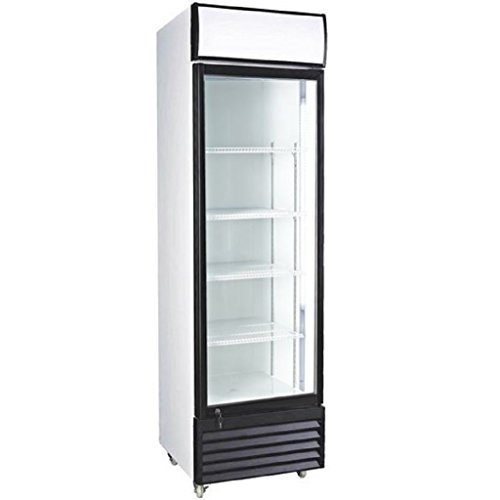 12.7 Cubic Ft. Glass Door Upright Display Beverage Cooler 360 Liter Refrigerator