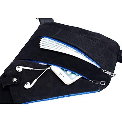 Pecho Pack Libre Paquete Anti Black Cross Piel En Aire Honda Body De Fines Bolso Genuina Bolsas Deporte De Excursionismo Viajar Negro Múltiples El Backpack De La para Theft Al nqZwwg8H