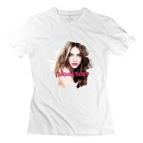 PCY Women's Create My Own Barbara Palvin Graphic Awesome T Shirt L White