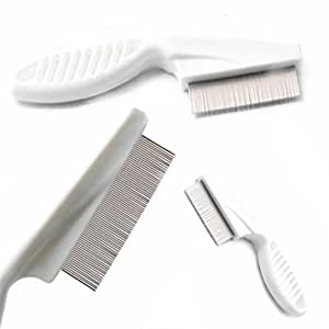 1 Pc Comb Hair Brush Head Lice Metal Fine Toothed Flea Flee Handle Kids Pet Tool Combo Pocket Long Round Holder Grand Popular Beard Natural Grooming Travel Kit