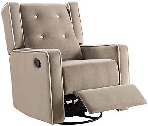 Naomi Home Odelia Swivel Gliding Rocker Recliner Mocha/Microfiber by Naomi Home