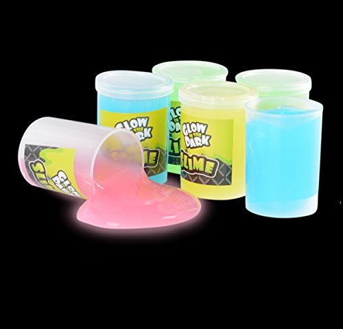 Glow In The Dark Slime 12 Pack Assorted Neon Colors- Green, Blue, Orange And Yellow For Kids, Goody Bag Filler, Birthday Gifts Non-Toxic - By - Orange Blue Color