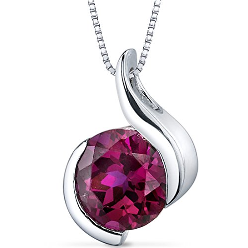 Created-Ruby-Bezel-Pendant-Necklace-Sterling-Silver-Rhodium-Nickel-Finish-275-Carats