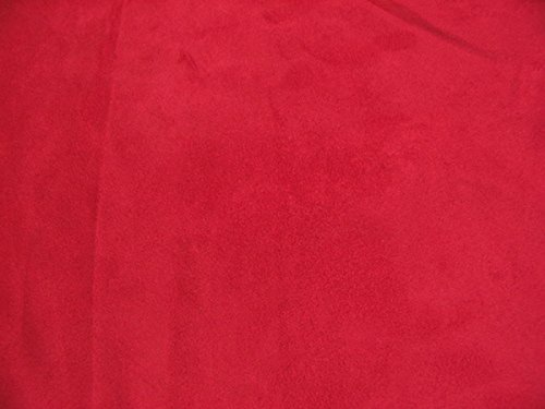 (Upholstery Micro Suede Headliner Fabric by The Yard (Red) )