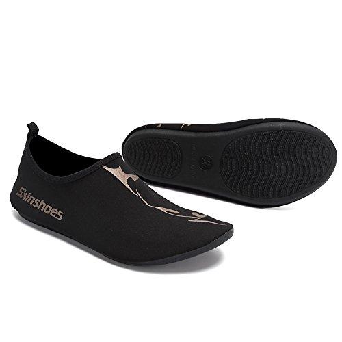 Cior Menn Kvinner Og Barn Hurtig Tørre Vann Sko Lette Aqua Sokker Til Strand Basseng Surfe Yoga Trening 01.black