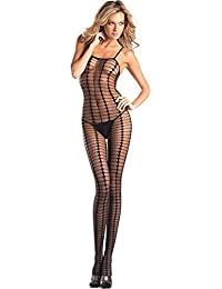 32fabe6e53 BWB24 Women s Sheer Crotchless Vertical Stripe Bodystocking · 10 · Product  Details. Be Wicked
