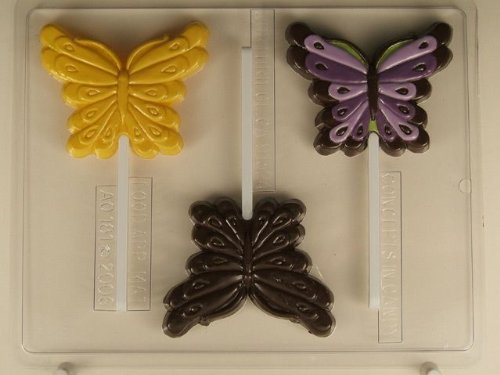 Large Butterfly Lollipop AO181 All Occasion Chocolate Candy Mold - Occasions Candy Mold