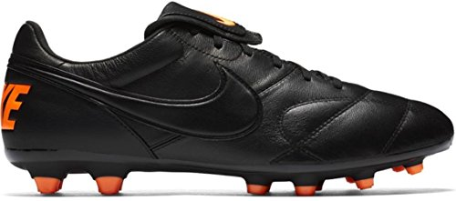 Nike Premier II Suela FG Piel de Canguro Negro/Naranja Adulto Negro