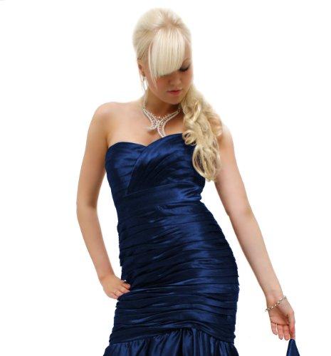 Satin da colori R2231L ball Royal Godet keyton in sera elegante diversi dell'abito Blu AB46A