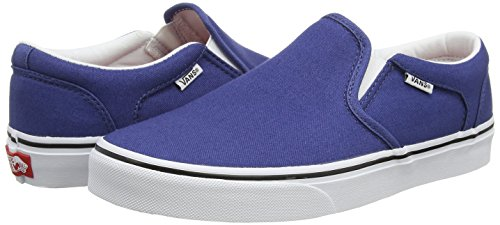 Vans - Asher, Zapatillas Hombre, Negro (canvas Black Black), 48 EU Azul (canvas stv navy/white)