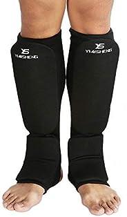 Breathable Leg Ankle Protector Anti-Slip Sock Shin Guards Kickboxing Muay Thai Martial Arts Training Support P