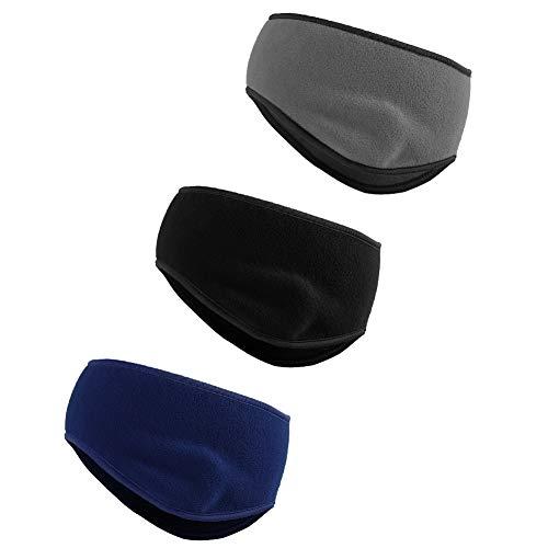 (Rainbow Finch Thermal Ears Warmer Cover Headbands Winter Fleece Earmuffs Stretch Sports Workout Headwrap for Women Men Pack of 3 GRABLADBLU)