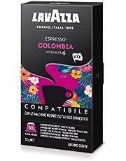 Risparmia su Lavazza Capsule Compatibili Nespresso Espresso Colombia - 10 confezioni da 10 capsule [100 capsule] e molto altro