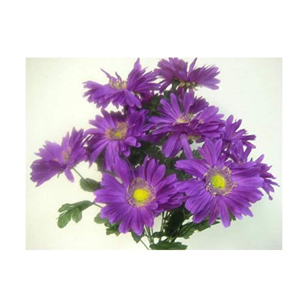 JumpingLight Lavender Gerbera Daisy Bush Artificial Silk Flowers Bouquet 12 586LV Artificial Flowers Wedding Party Centerpieces Arrangements Bouquets Supplies