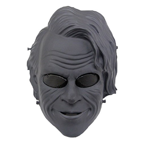 Joker Mask, Outgeek Bank Robber Joker Clown Mask Tactical Airsoft Mask Full Face Protection for Cs War Game/ Dark Knight Cosplay/ Halloween Mask/ Movie Prop/ Masquerade Party ()
