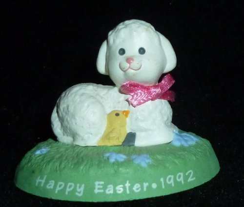 (Hallmark Merry Miniature Happy Easter Lamb With Ducky Figurine)