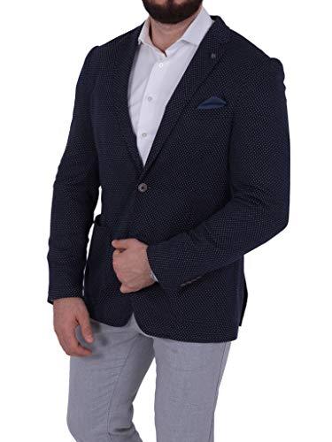 bruno banani Herren Jersey Sakko Casual gepunktet Blazer Zweiknopf Jackett Anzug Slim Fit