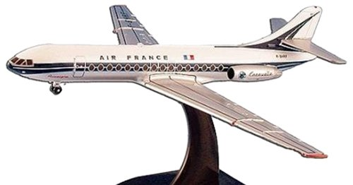 Daron Worldwide Trading MP5825 Model Power Air France Caravelle 1/250