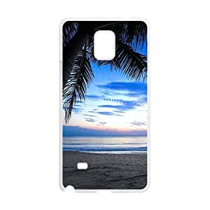 Beach View White Phone For SamSung Note 4 Case Cover