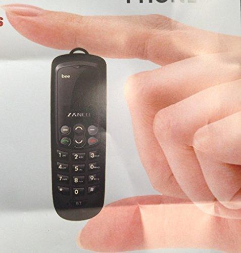 Teléfono móvil Zanco Bee, el más pequeño y delgado, color negro, SMS, Bluetooth, SIM, teclado, MP3, libre: Amazon.es: Electrónica