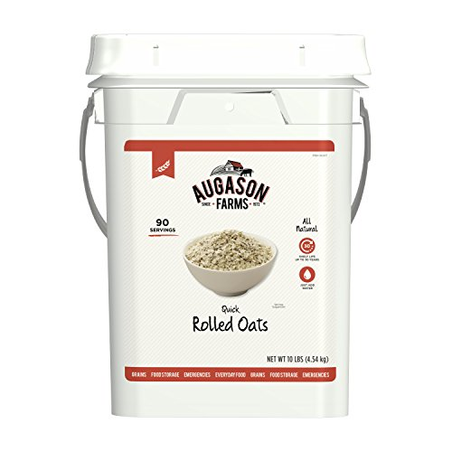 (Augason Farms Quick Rolled Oats Emergency Food Storage 10 Pound Pail)