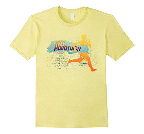 Mens NYC Marathon Runner Race Sports Graphic Tshirt Tee 2XL ()