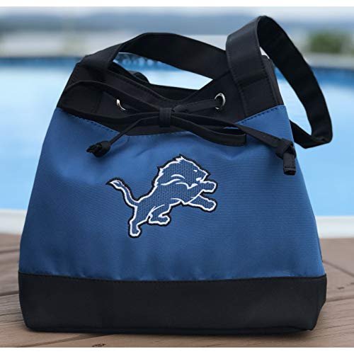 NFL Detroit Lions Womens Fashion Insulated Lunch Tote with Embroidered Logo by Little Earth
